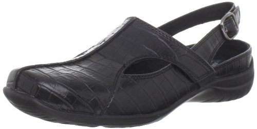 Easy Street Women's Sportster Clog,Black Croco,10 M US ()