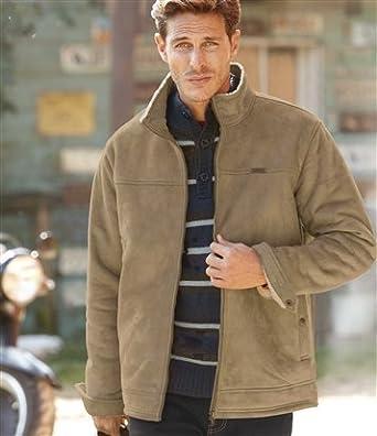Blouson For Et amp; Atlas Sherpa Vêtements Suedine Men q7nvwfT