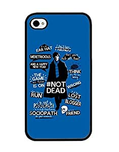 Sherlock,TV Cell Phone Funda Case For Iphone 4 4s Scratch Resistant Tough Plastic Material Protector Hard Printed Funda Case Cover