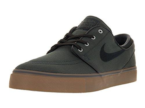 Nike Men's Zoom Stefan Janoski Cnvs Anthrct/Blk Gm Md Brwn Mtllc S Skate Shoe 8 Men