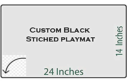 Hiddensupplies Custom Black Stitched Playmat 24 X 14 Inch For Pokemon Magic The Gathering Yugioh