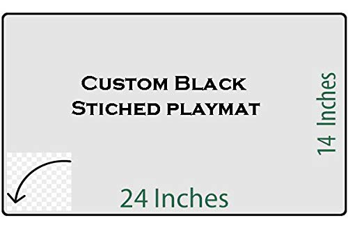 Custom Magic (HiddenSupplies Custom White Stitched Playmat 24 x 14 Inch for Pokemon Magic The Gathering Yugioh)