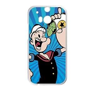 Popeye black HTC One M8 Cell Phone Case White Rlbsz