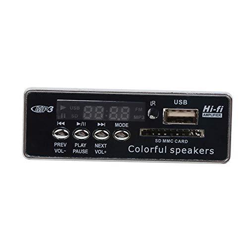 daffodilblob Car Bluetooth MP3 Decoder Board Module Wireless USB SD Card Slot FM Radio Remote AUX Switch Automatically Black