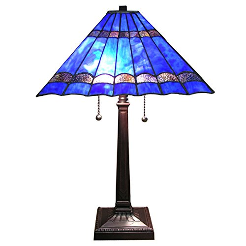 Tiffany Square Table Lamp (Tiffany-style Gothique Table Lamp)
