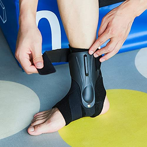Breathable Ankle Support Brace Strap Bandage Reusable Foot Guard Protector Sport Relief Pain Ankle Sprain Orthosis Stabilizer Plantar Wrap 703 (Size : Large)