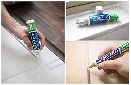 grout pen white ideal to restore the look of tile grout lines