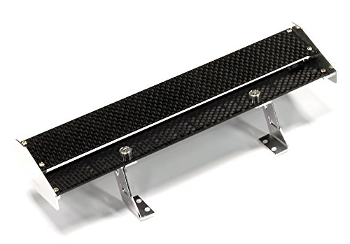 Carbon Fiber Rustler (Integy RC Model Hop-ups C25103SILVER Realistic 1/10 Size Carbon Fiber Rear Wing 185mm Width)