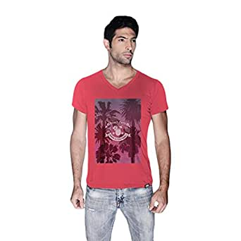 Creo Beach Party T-Shirt For Men - S, Pink