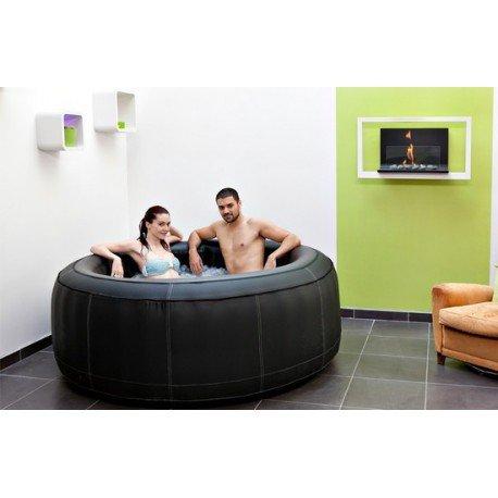 VerySpas Spa Whirlpool, aufblasbar, Leder,  4Sitzer