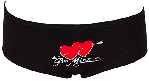 AvaMia, 6er Pack Pantys uni mit Print Hipster French Knickers Damen Teen