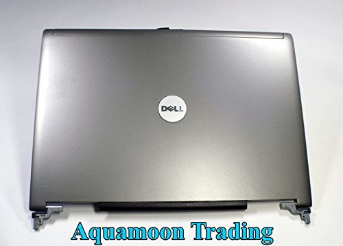 Genuine OEM Dell Latitude D620 D630 D631 Laptop Notebook 14.1 Inch EAZJX000100 HAL00 AMZJX000900 SILVER LCD Rear Back Cover Top Monitor Panel Case FOXCONN Lid W/Hinges Antenna Wire Assembly JD104