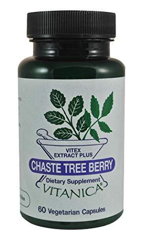 Vitanica, Chaste Tree Berry, Vitex Extract Plus, Vegan, 60 Capsules (Tree Chaste Pms Berry)