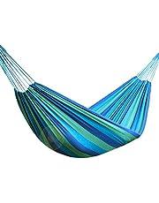 CNluca Quarto com rede de lona dupla ao ar livre individual portátil interno e externo com corda na rede quarto baloiço cama de estudante