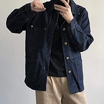 Winwinus Women Lapel Washed Custom Fit Boyfriend Button Jean