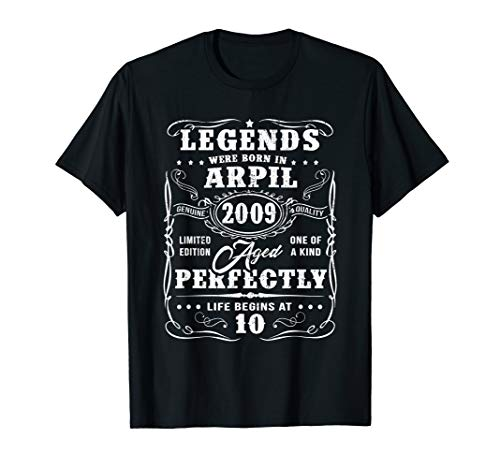 (April 2009 10th Birthday Gift 10 Year Old For Men Women)