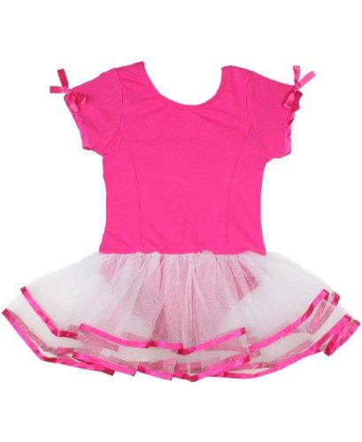 RuffleButts Little Girls Ruffled Dancewear Tutu Leotard