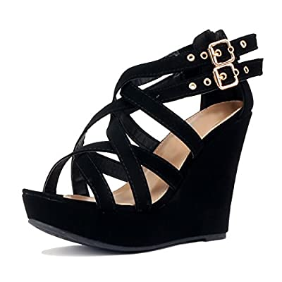 TOP Moda Lindy-3 Platform Sandals MVE Shoes, mve Shoes Lindy 3 Black Nelly Size 8