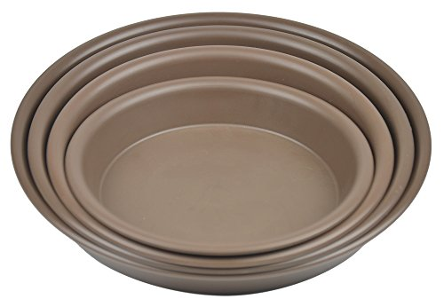 6.9'' Round Plant Saucer Planter Tray Pat Pallet for Flowerpot,Coffee,1080 Count by Zhanwang