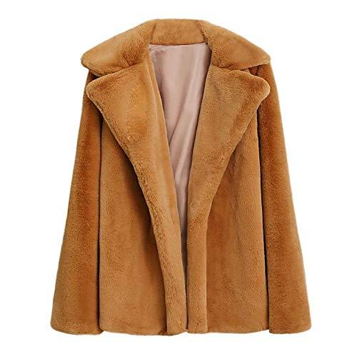 Signore Tempo Delle Il Inverno Libero All' Donna Per Giacca Caldo Spessore Invernale Colore Manica Zhrui Moda Lunga Pelliccia Solido Casual Cappotto Di xUq1wS