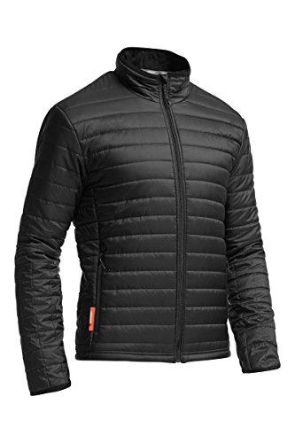 Icebreaker Men's Stratus Long Sleeve Zip Jacket, Black/Black/Black, Small