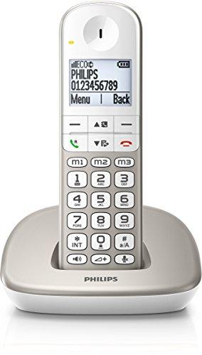 Philips XL4901S/38 schnurloses Telefon (4,8 cm (1,9 Zoll) Display, HQ-Sound, Mobilteil mit Freisprecheinrichtung) silber