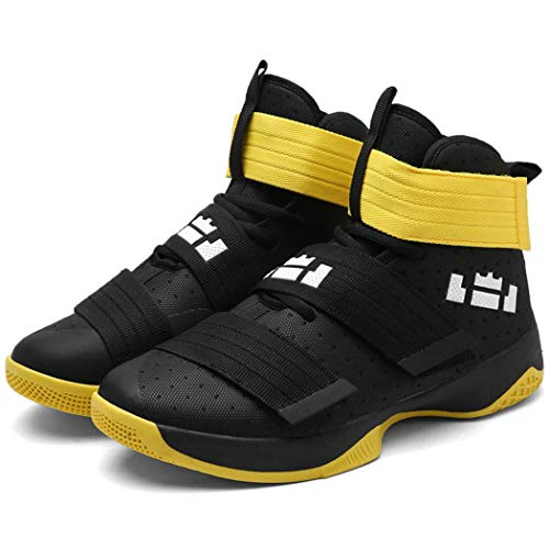 Mrh.Dar Original Basketball Shoes Male Couple Sneakers Breathable Mens Boots Support Comfortable Hard Court Boys Cool Black Yellow