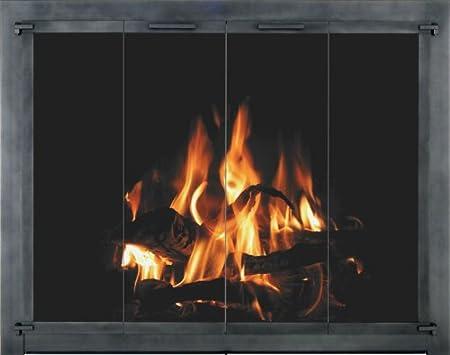 Stoll Traditional Premium Bi Fold Glass Fireplace Door 42 X 28