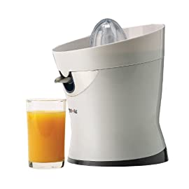 Tribest CS-1000 CitriStar Electric Citrus Juicer 6 <p>Citristar Citrus Juicer - the quiet yet powerful juicer - can start you on your way to better health. With minimal time & effort, Citristar extracts this extremely beneficial juice for you and your entire family. The Citristar's unique, high-clearance stainless-steel spout prevents clogging and ensures continuous operation. The quiet yet powerful motor makes quick work of all your favorite citrus fruits, making Citristar the only appliance needed for all your citrus juicing needs. Favorite citrus fruits to refreshing juices in a snap! Dimensions 8 W x 8 D x 9.5 H inches.Easy one-touch operation Juice pours directly into glass for continuous operation Allows maximum extraction from the smallest limes to the largest grapefruits Fine screen prevents clogging and is easy to clean</p>