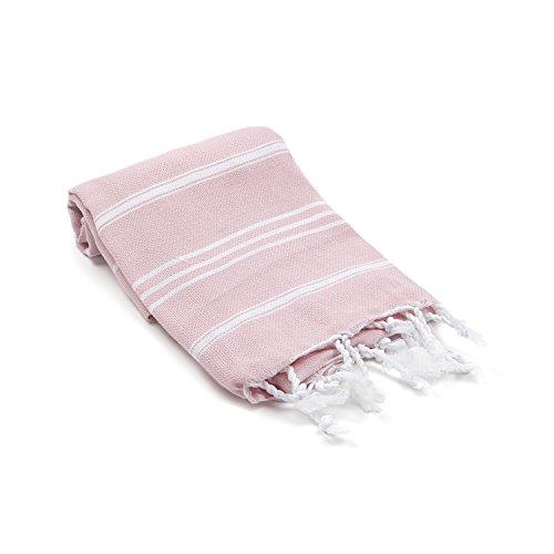 - Olive&Linen Bodrum Turkish Hand/Kitchen Towel, Blush