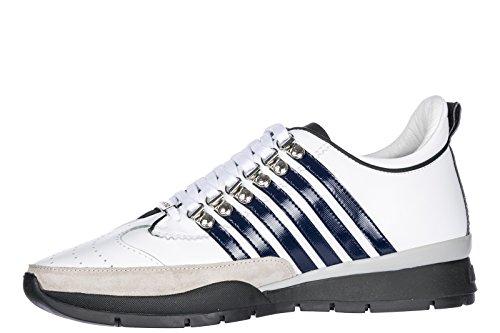 Dsquared2 Herenschoenen Heren Leren Schoenen Sneakers 251 Wit