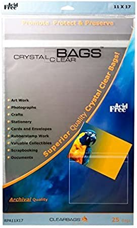 Amazon Com Clearbags 11x17 Seal Top Closure Bags Perfect Fit For 11x17 Photos Art Prints Pictures Posters Resealable Adhesive On Bag Not Flap Crystal Clear Archival Safe B1117pca Pack Of