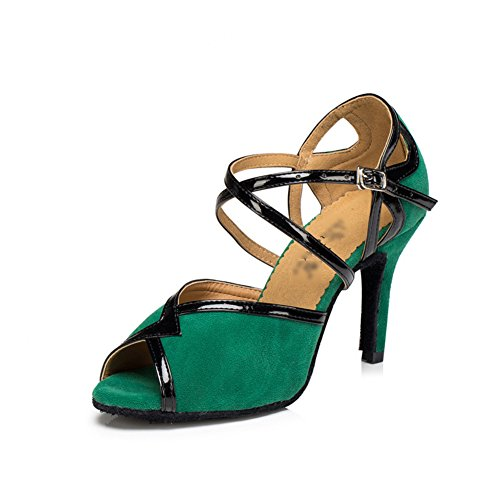 Sociale Chaussures International De High Danse Danse Chaussures Standard Heels WYMNAME Chaussures Danses Mou Womens De De Latine Vert Fond 7xqTwS51