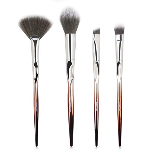 Honhui MAANGE 4Pcs/Set Cosmetic Makeup Blush Foundation Powder Eyeshadow Brushes Set