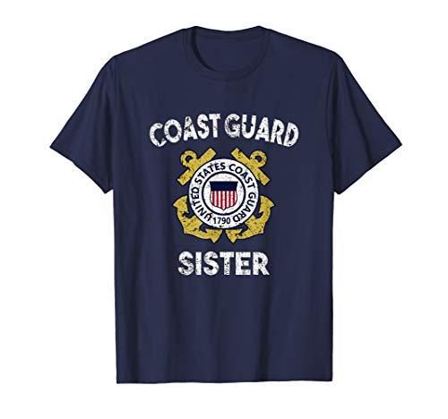 Coast Guard Military T-shirt - Proud US Coast Guard Sister Shirt Military Pride T Shirt