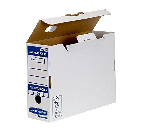 Bankers Box Folio Lomo 100 mm - Caja de archivo definitivo montaje automatico