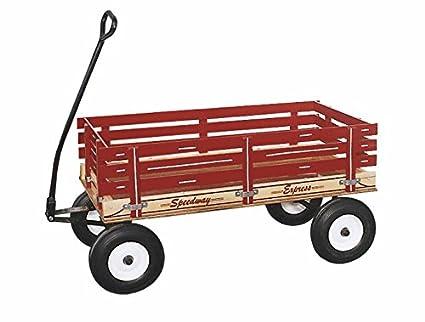 Speedway Express Wagon modelo 300 amish-made en Estados Unidos con ruedas de goma maciza