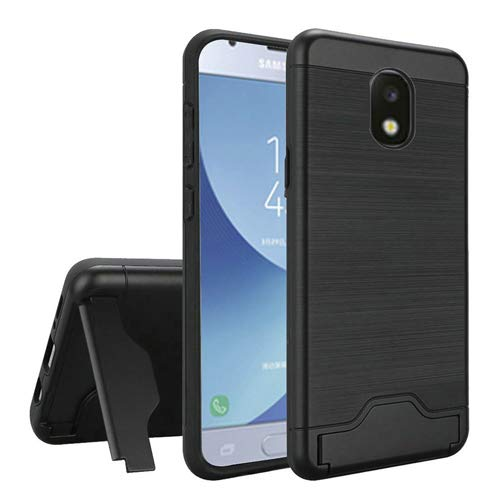 the best attitude 66e46 2971e Phone Case Compatible for Samsung Galaxy J7-Crown, J7-Aura, J7-Aero, J7-Top  J7-Star J7-Refine J7-2018 J7V-2nd Gen Dual-Layered Card Holder Cover ...