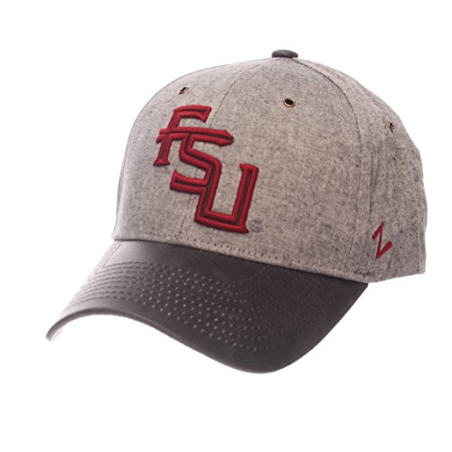 Zephyr NCAA Florida State Seminoles Adult Men The Supreme Cap, Adjustable, Gray