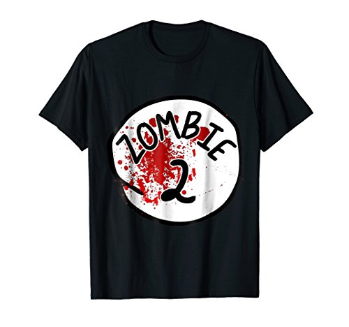 Mens Couples Zombie 2 Halloween Costume T-Shirt 3XL Black