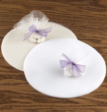 Tulle Netting Circles in White for Wedding, Party Favors and Embellishing- 50 Tulle Circles