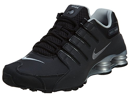 Nike Men's Shox NZ EU, Black/Anthracite/Metallic Reflective Silver, 10 D - Medium