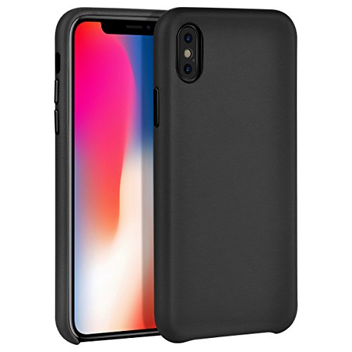 iPhone X Case, iPhone 10 Case, Muti-layer Matte Hard PU Leather Cover Shock Absorbing Case Microfiber Soft Lining Cloth Cushion Shell [Supports Wireless Charging] for Apple iPhone X 10 Edition