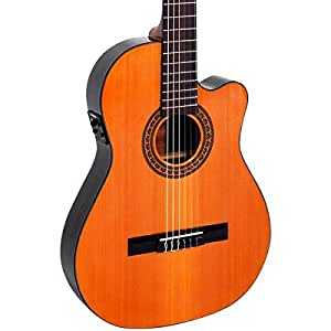 giannini cdr pro nylon string acoustic electric guitar natural musical instruments. Black Bedroom Furniture Sets. Home Design Ideas
