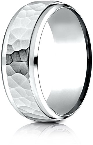 White Gold Benchmark Wedding Ring - 6