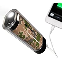 Datexx Power Now USB Mobile Phone Battery Charger with Smart Jack and LED Lantern - Retail Packaging - Camo