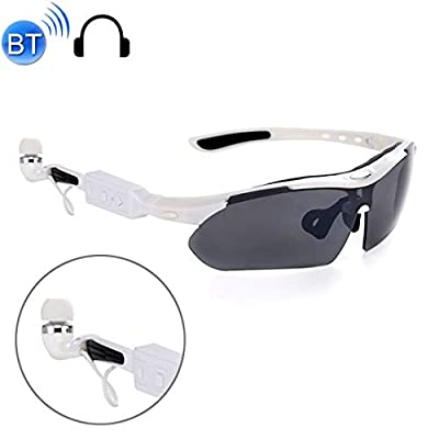 Ffzhushengmy Glasses Handsfree Bluetooth 4.1 Headset Stereo Headphone Sports Polarized Sunglasses with Box,