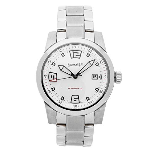 Eberhard Scafomatic Mechanical (Automatic) White Dial Mens Watch 41026.1 (Certified Pre-Owned) (Eberhard Watch)