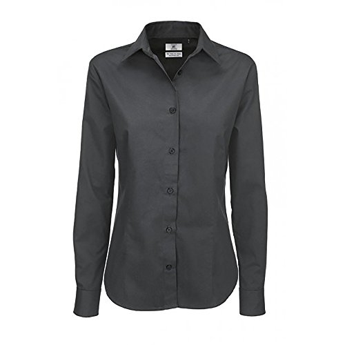 Sharp Burdeos amp;c Twill Ladies B Long Shirts Sleeve Shirt qpPwnC1xE