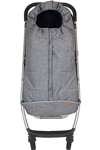 liuliuby Toddler Size Original CozyMuff - Weatherproof Footmuff with Temperature Control - Universal Fit for Strollers (Heather Gray, 2019/2020 Edition)
